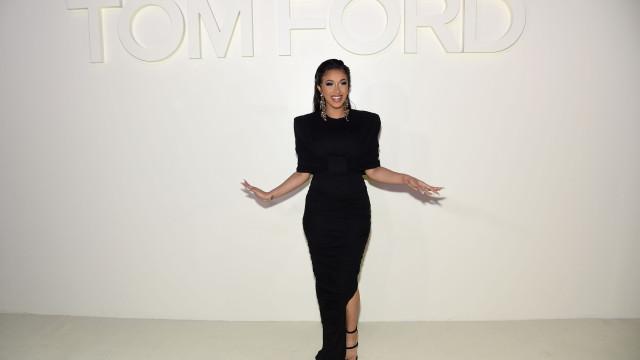 Cardi B 'inaugura' Semana da Moda de Nova Iorque com look discreto
