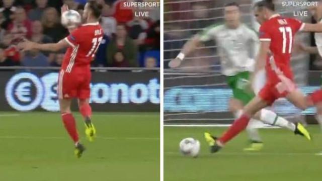 O espetacular golo de Bale na vitória do País de Gales diante da Irlanda