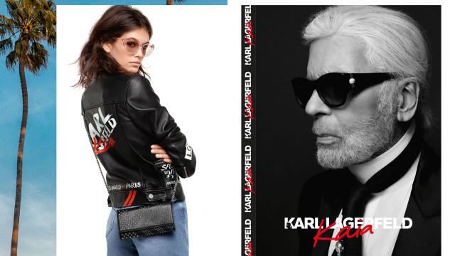 Karl Lagerfeld x Kaia, a parceria que mistura Paris com Los Angeles