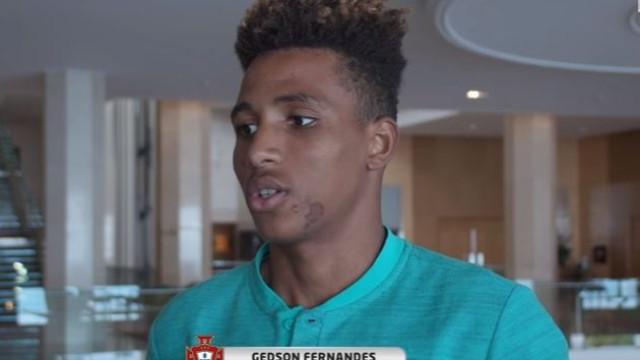 Gedson revela as palavras de Fernando Santos antes da estreia