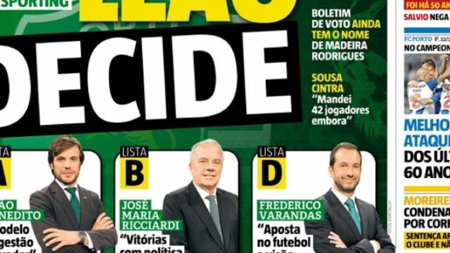 """Por cá: """"Leão decide"""" em dia de nova página negra no futebol nacional"""