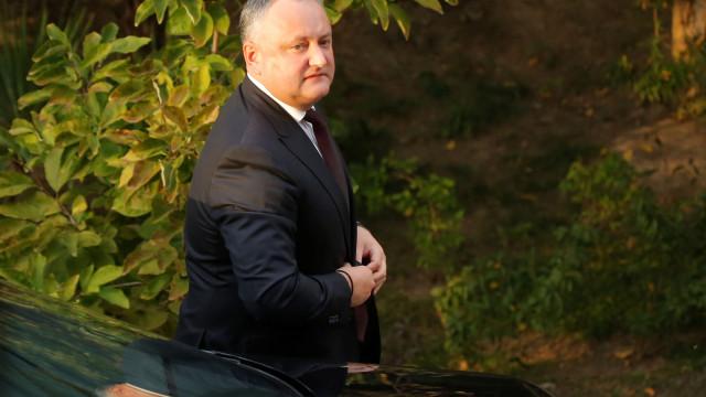 Imagens mostram momento do aparatoso acidente do presidente da Moldávia