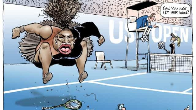 "Cartoon de Serena Williams criticado por ser ""racista"" e ""sexista"""