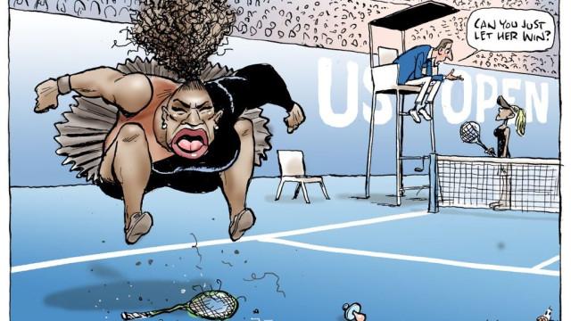 Jornal volta a imprimir cartoon de Serena Williams... agora na capa