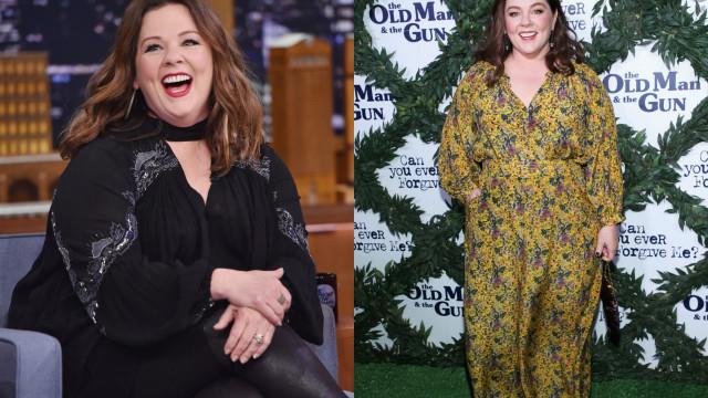 Em três anos, Melissa McCarthy emagreceu 34 quilos