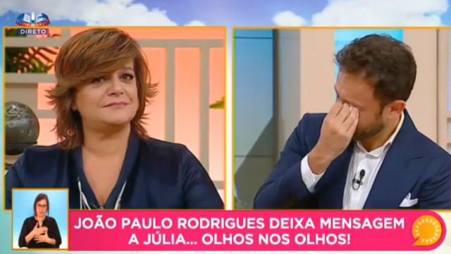 João Paulo Rodrigues lavado em lágrimas na despedida de Júlia Pinheiro