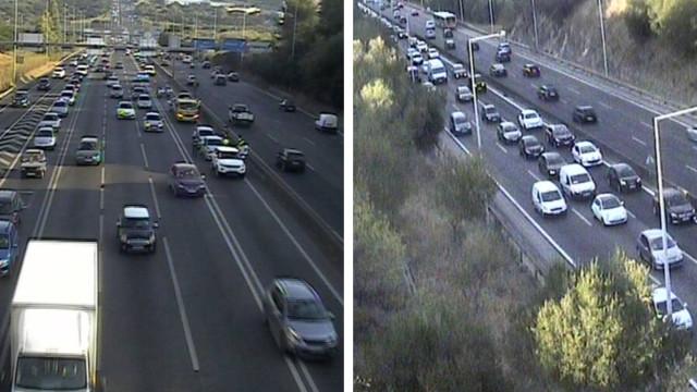 Colisão com cinco viaturas congestiona trânsito na Ponte 25 de Abril