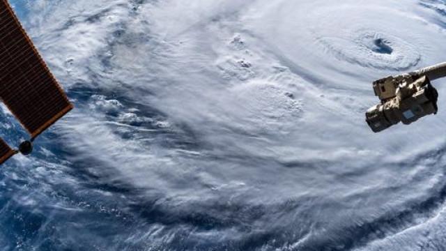 Estação Espacial capta imagens aterradoras do furacão Florence