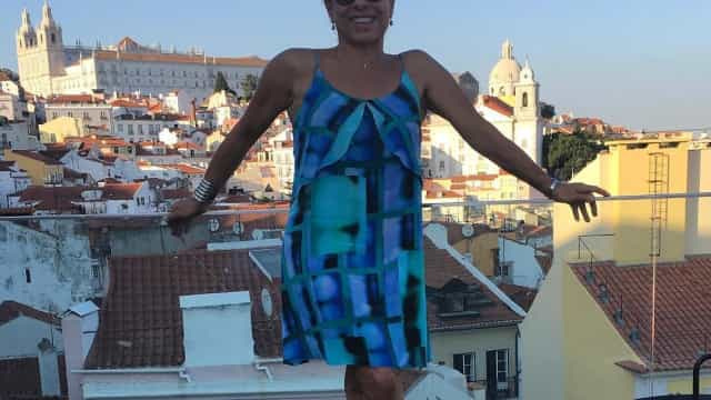 As férias da atriz brasileira Cissa Guimarães em Portugal