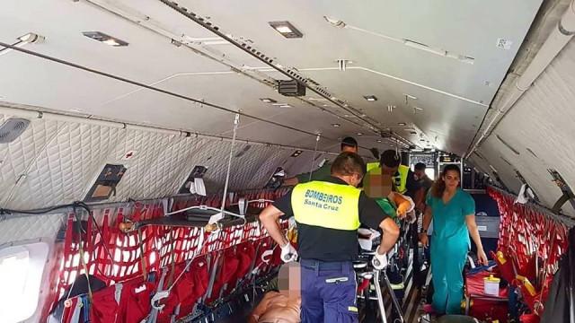 Força Aérea transporta três doentes do Porto Santo para a Madeira