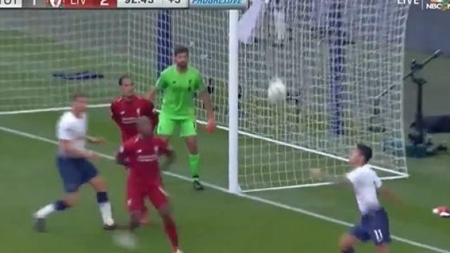 Este golaço de Lamela não evitou a derrota do Tottenham
