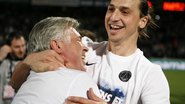 """Ancelotti 'louco' com o golo 500 de Ibra: """"Um dos melhores que treinei"""""""