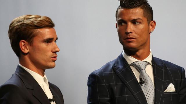 """Já como na mesma mesa de Messi e Ronaldo"""