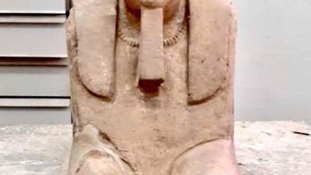 Descoberta esfinge da dinastia ptolemaica no Egito