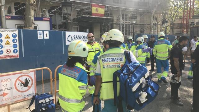 Queda de andaime em hotel de Madrid deixa vários trabalhadores feridos