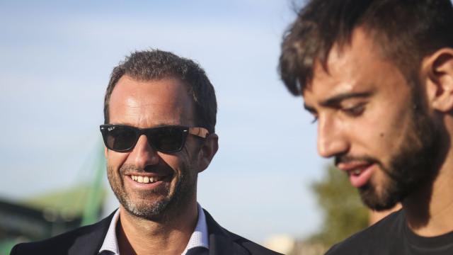 """Varandas visita formação: """"Este é o futuro do Sporting"""""""