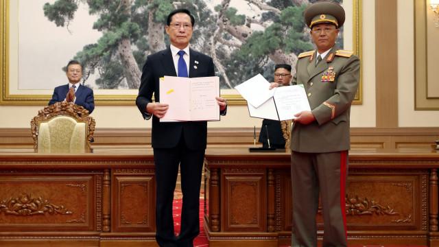 Acordo entre Pyongyang e Seul quer reduzir tensões militares na fronteira
