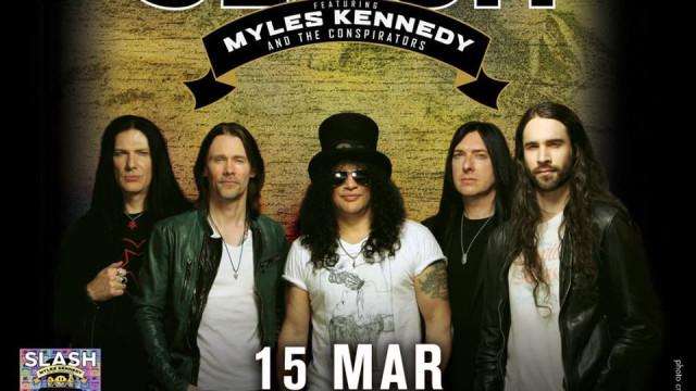 Já há bilhetes à venda para os Slash ft. Myles Kennedy & The Conspirators
