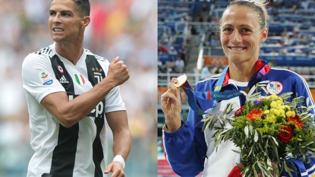'Atiradiça'? Nadadora italiana confessa que gostava de jantar com Ronaldo