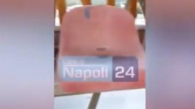 Aparente buraco no topo das bancadas do estádio do Nápoles causa 'terror'