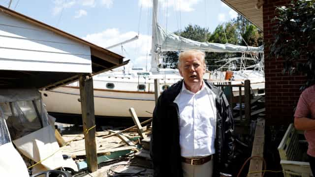 Estaremos a 100% com as vítimas da tempestade, diz Trump