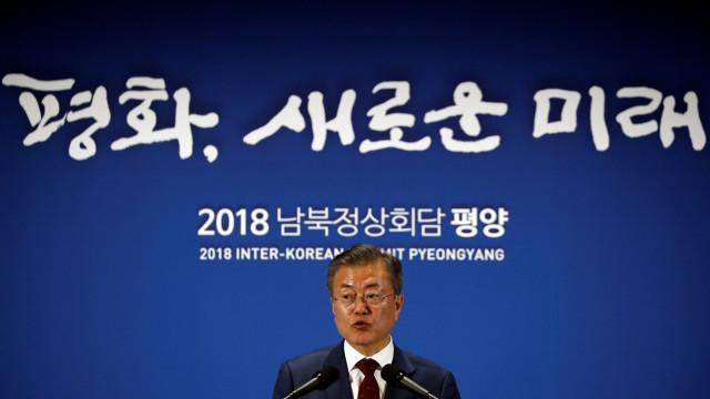 Presidente sul-coreano diz que Kim Jong-un quer nova cimeira com Trump