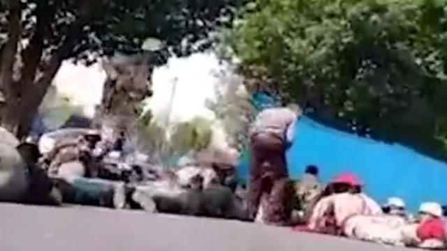 Imagens mostram o pânico após atentado durante parada militar