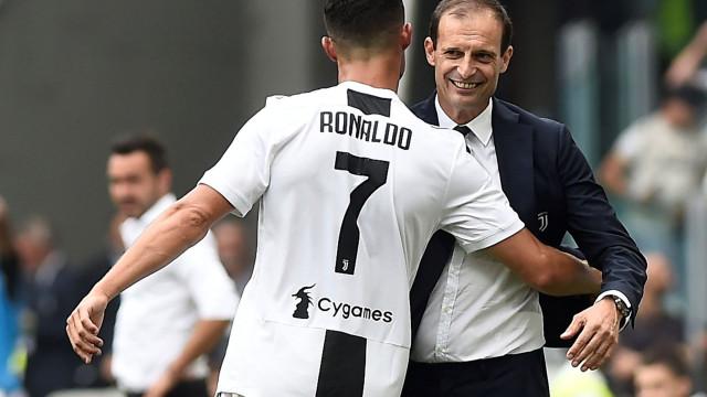 """Allegri e a expulsão de Ronaldo: """"O que se passou fica para trás"""""""