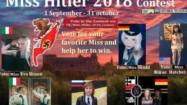 Rede social de concurso de beleza 'Miss Hitler' foi bloqueada