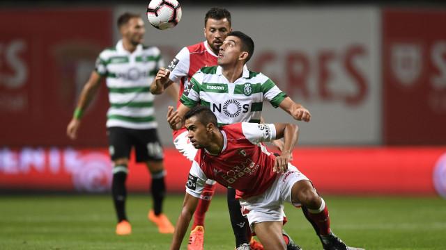 [0-0] Intervalo no Sp. Braga-Sporting: Ainda não há golos na Pedreira
