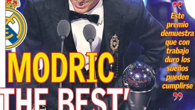 Modric, o novo The Best, domina as capas da imprensa internacional