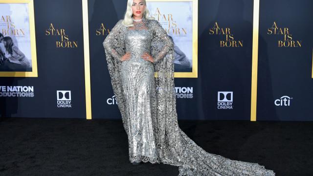 Rainha do prateado: Lady Gaga brilha na ante-estreia do seu novo filme