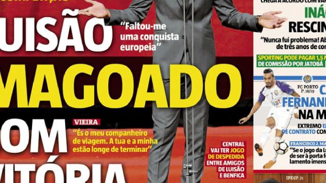 """Cá dentro: A mágoa de Luisão com Rui Vitória e os """"contos do dragão"""""""