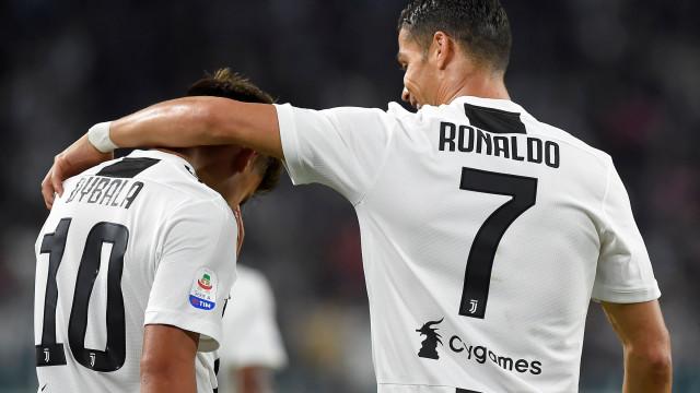 """Dybala """"feliz"""" com CR7: """"Vamos marcar muitos golos juntos"""""""