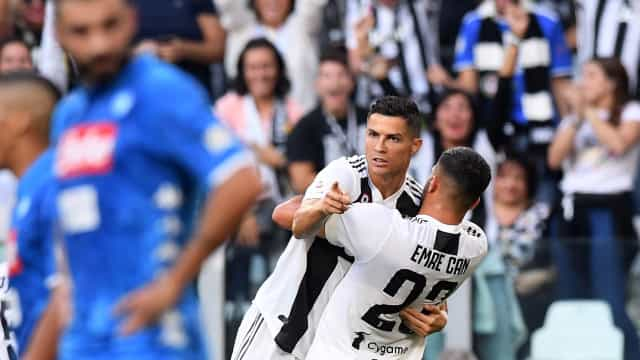 CR7 ajuda Juventus a bater Nápoles e a consolidar liderança