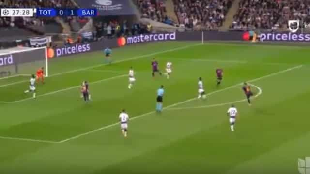Golo de Rakitic ao Tottenham eleito o tento da semana na Champions
