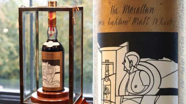 Garrafa de whisky vendida pelo valor recorde de 950 mil euros