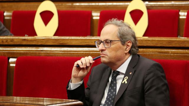Quim Torra reage com indignação a penas pedidas para independentistas