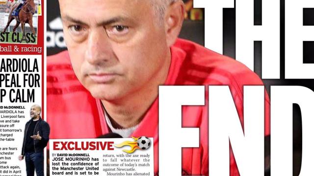 """Lá fora: """"Fim"""" de Mourinho e Cristiano Ronaldo contra a """"lama"""""""