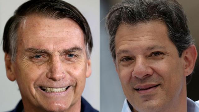 Nova sondagem dá vitória a Bolsonaro com mais 18 pontos que Haddad