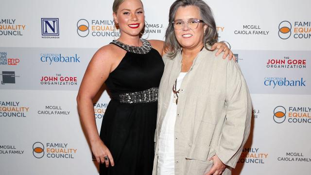 Atriz Rosie O'Donnell pediu a namorada 22 anos mais nova em casamento