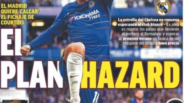 Lá fora: O sucessor de Jardim e o sonho 'Real' de Hazard