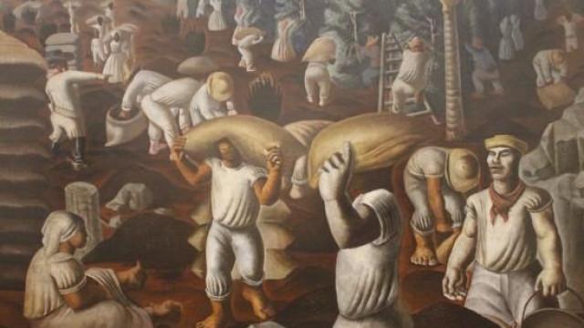 Obra mítica de Portinari 'Café' na exposição sobre o pintor