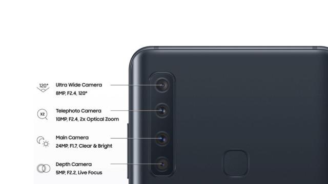 Nova imagem do Galaxy A9 revela funções das quatro câmaras