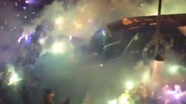 Autocarro do Cruzeiro foi recebido de forma arrepiante