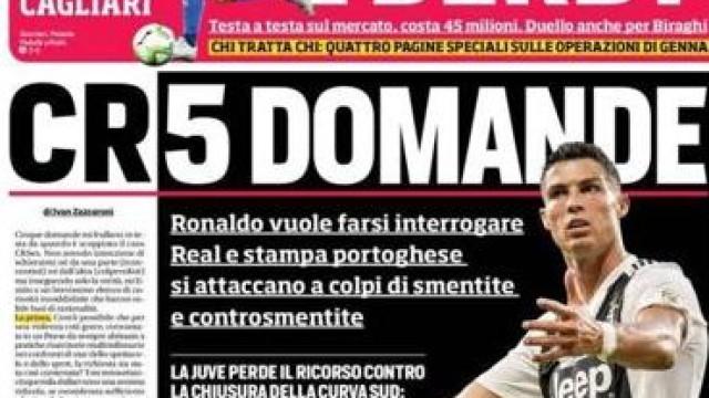 Lá fora: A Espanha goleadora e a polémica de Ronaldo