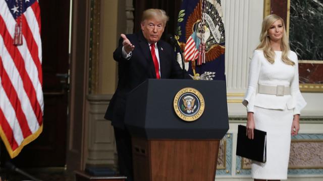 """""""Todos querem a Ivanka nas Nações Unidas"""", afirma Trump"""