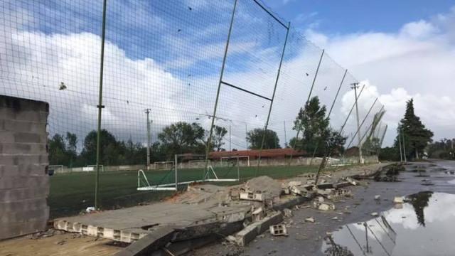 Tempestade Leslie deixou rasto de destruição nas instalações da Académica