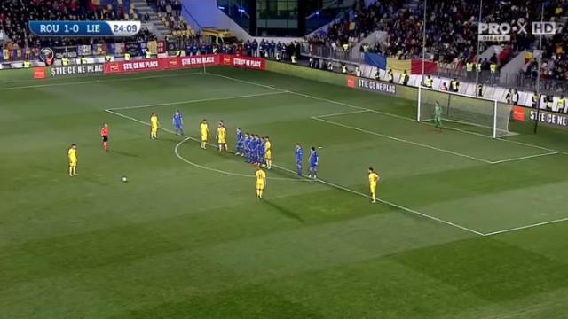 Filho de Hagi marca livre fantástico na goleada dos sub-21 romenos