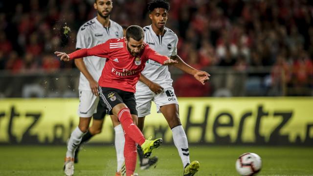 [0-0] Sertanense-Benfica: Jonas marca mas golo é anulado